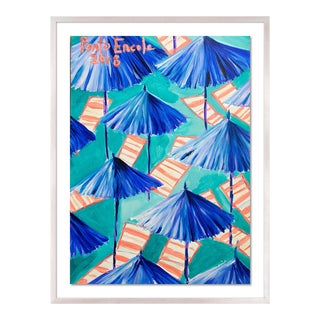 Cabana 9 by Lulu DK in White Wash Framed Paper, Small Art Print