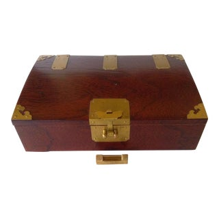 Asian Rosewood Box For Sale