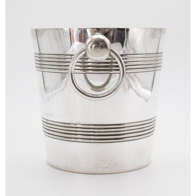 Mid-Century Belgian Silver Plate Champagne Bucket For Sale - Image 4 of 8