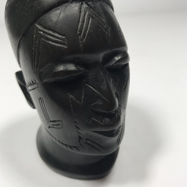 Antique Carved Wooden Head - Image 10 of 11