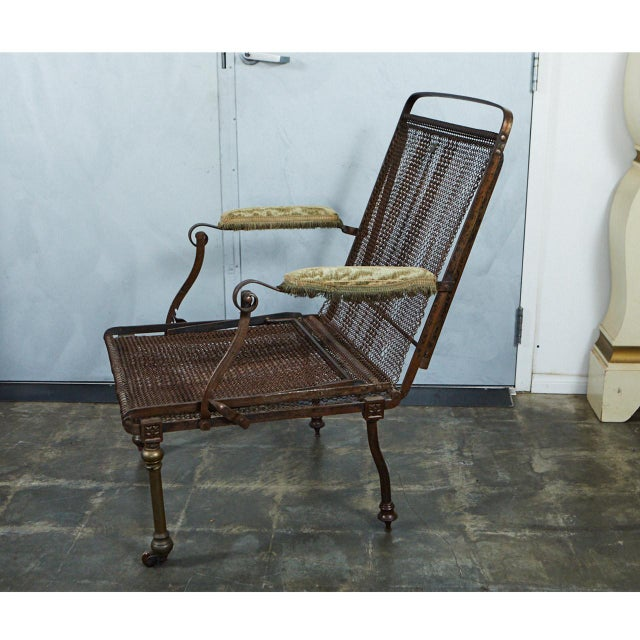 English Campaign Chair/Bed For Sale - Image 4 of 10