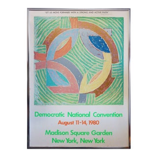 Frank Stella (After), Democratic National Convention Poster, 1980 For Sale