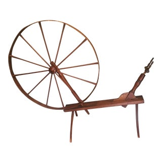 Antique Rustic Spinning Wheel For Sale