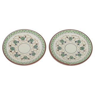 Italian Terracotta Olive Oil Dipping Plates, Pair For Sale