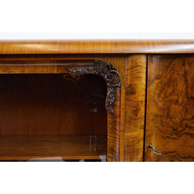 Art Deco Art Deco Walnut Burl Wood Sideboard or Bar Cabinet For Sale - Image 3 of 13