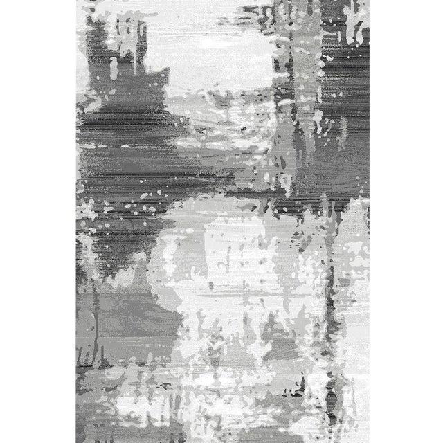 Turkish Gray Abstract Rug 5'3''x 7'7'' - Image 1 of 4