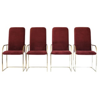 Brass Dining Chairs by DIA S/4 For Sale