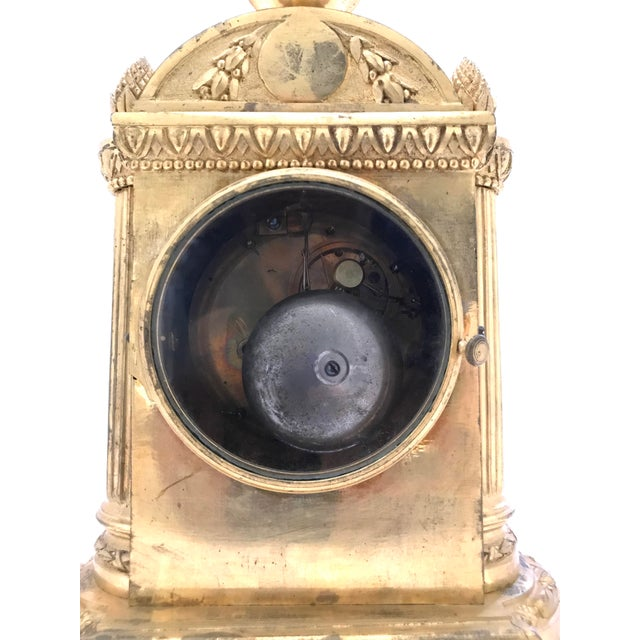 1776 Antique French Bronze Mantel Clock For Sale - Image 9 of 10