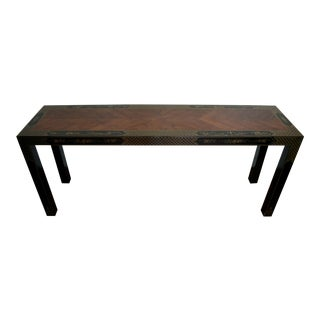 Chinoiserie Parsons Console Table