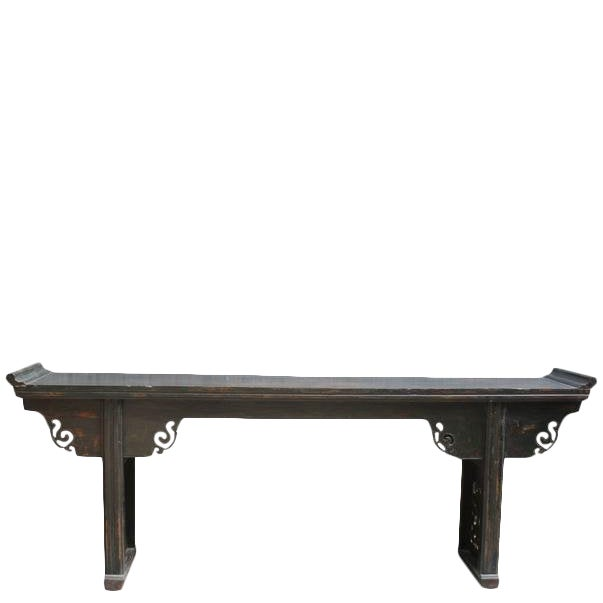 Antique Chinese Elm Altar Console Table For Sale
