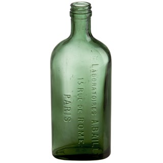 A. Bailly Paris Green Glass Bottle