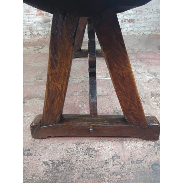 Brown 1960s Spanish Colonial Gorgeous Walnut Dining Table For Sale - Image 8 of 10