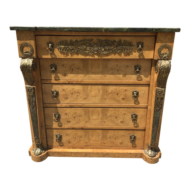Antique Biedermeier Style Chest of Drawers For Sale