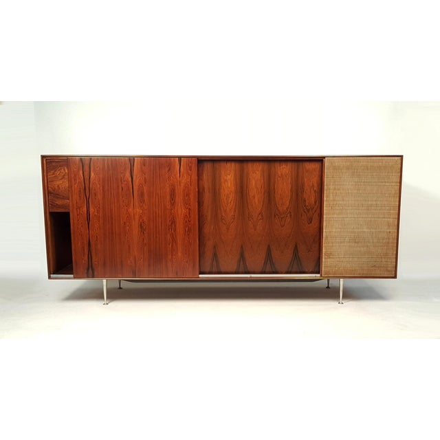 Mid-Century Modern George Nelson Brazilian Rosewood Thin Edge Stereo Cabinet For Sale - Image 3 of 11