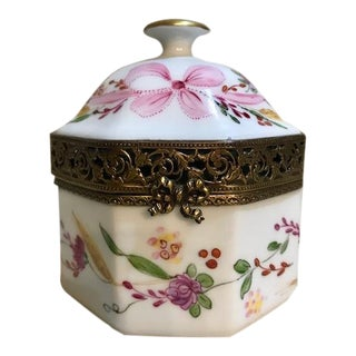 Limoges Porcelain Hexagon Trinket Box
