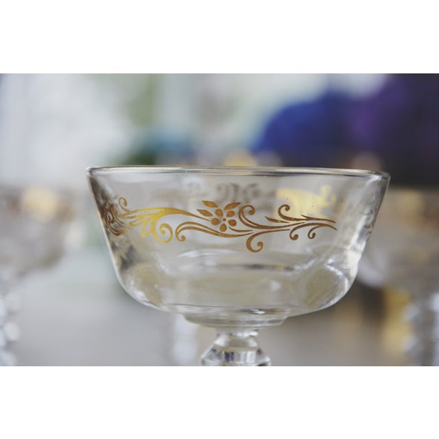 Golden Filigree Goblets - Set of 4 For Sale - Image 5 of 6