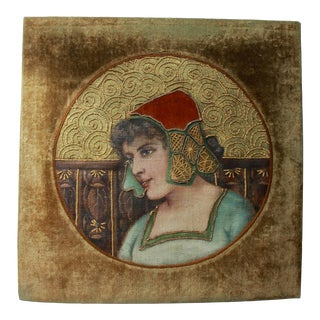 Early 20th Century European Painting/Embroidery For Sale