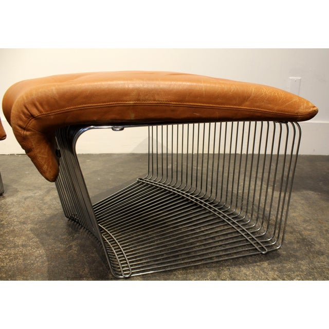 Verner Panton for Fritz Hansen Pantonova Leather Lounge Chair and Ottoman For Sale - Image 9 of 13
