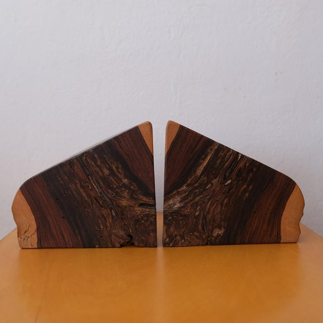 Brown 1960s Mexican Modern Bookends by Don Shoemaker For Sale - Image 8 of 10