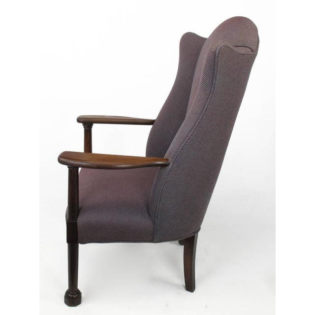 Late 1800s English Arts and Crafts Open Arm Wingback Chair - Image 3 of 7