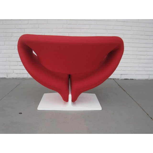 1960s Pop Art Pierre Paulin Red Wool Ribbon Chair For Sale In Miami - Image 6 of 13