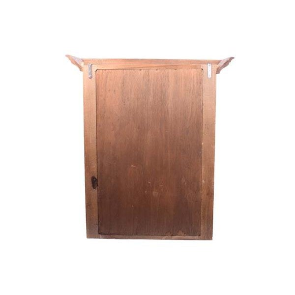 Oak Large Arts and Crafts Rustic Farmhouse Wood Hanging Wall Cabinet Rustic Wall Cupboard For Sale - Image 7 of 10