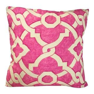 Kim Salmela Pink Geometric Pillow For Sale