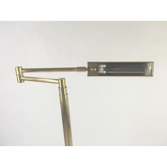 Koch & Lowy Brass Swing Arm Adjustable Floor Lamp - Image 3 of 5
