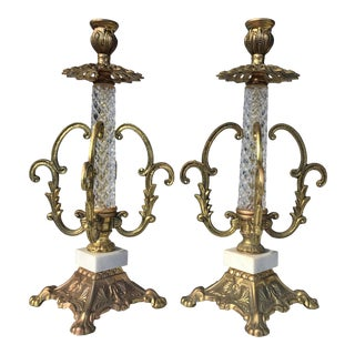 1960s Hollywood Regency Candle Holders - a Pair For Sale