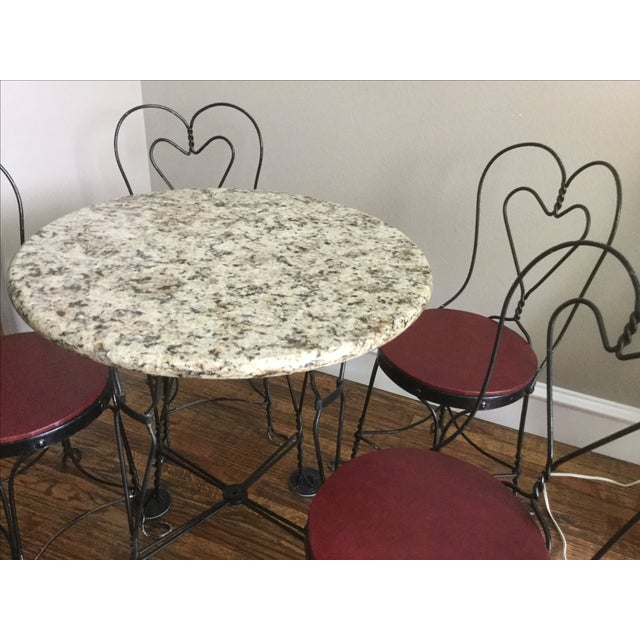 Vintage Ice Cream Parlor Dining Set - Image 4 of 7