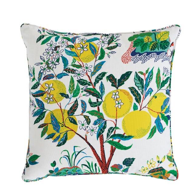 Schumacher Citrus Garden Indoor/Outdoor Pillow For Sale In Charlotte - Image 6 of 6