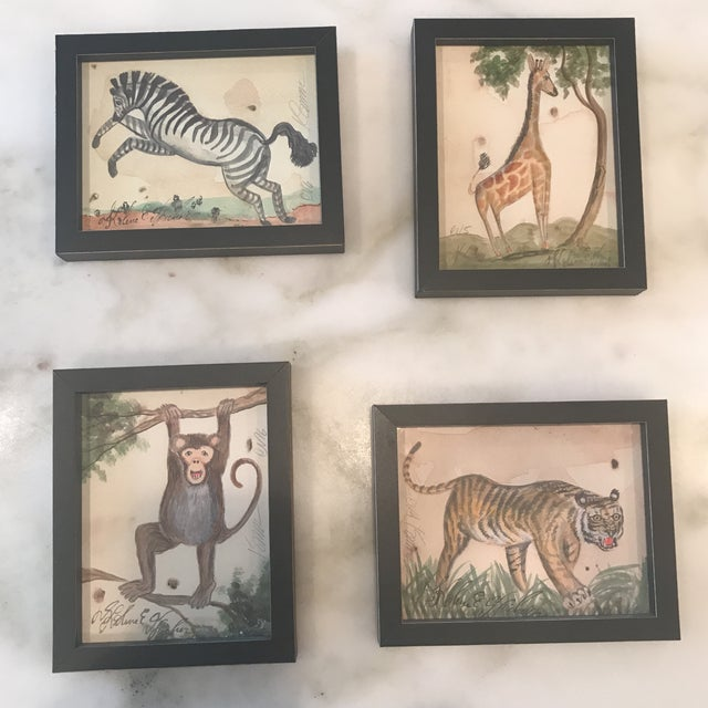 Framed Animal Watercolor Prints - Set of 4 - Image 9 of 9
