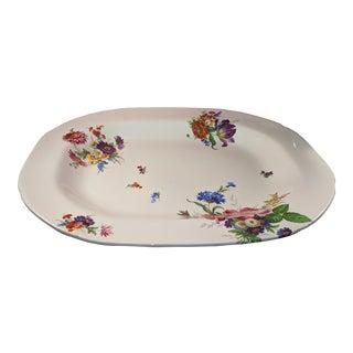 Vintage Blakeney Pottery Large Floral Motif Serving Platter For Sale