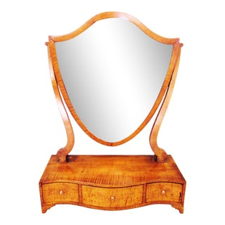 1900s Traditional Figured Cherry Dressing Stand For Sale