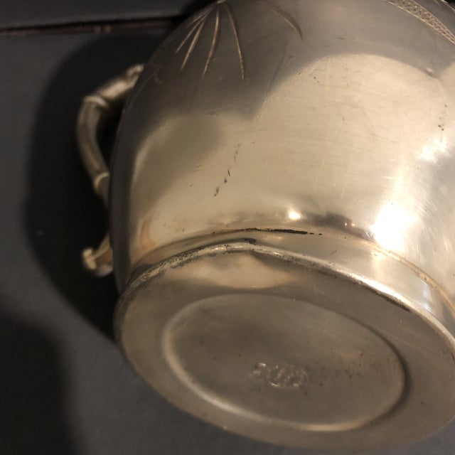 Victorian Aurora Silver Plate Teapot For Sale - Image 10 of 13
