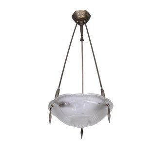 Exceptional 1920's French Art Deco Chandelier by Ernest Sabino For Sale