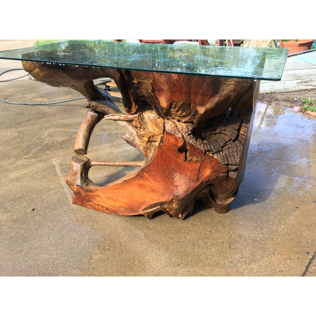 Ancient Cypress Root Burl Coffee Table or Bar For Sale In Dallas - Image 6 of 7