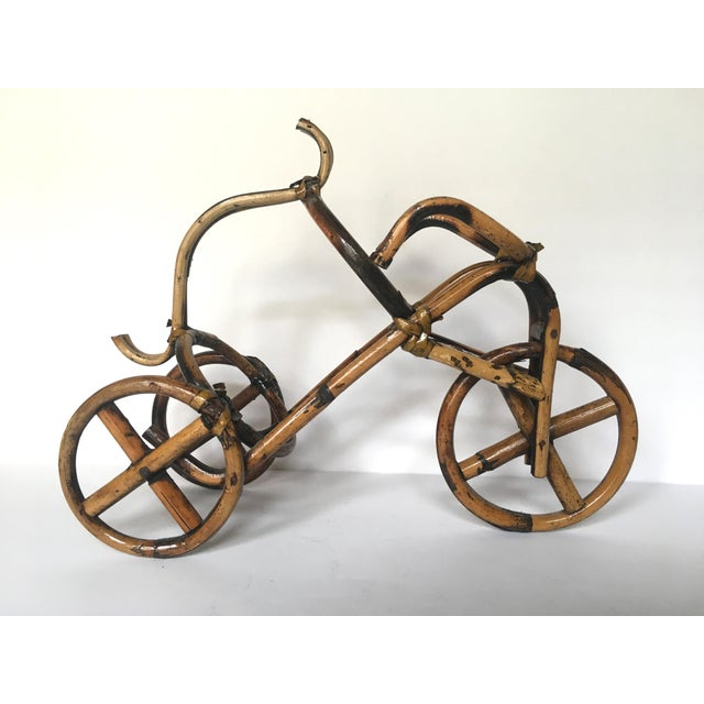 French Rattan Bicycle Wine Caddy - Image 3 of 4