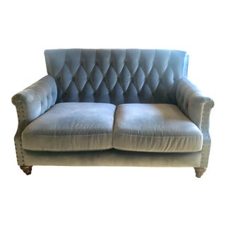 Velvet Tufted Loveseat For Sale