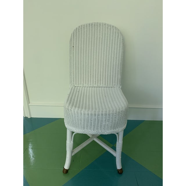 English Vintage Lloyd Loom English Wicker Chairs - a Pair For Sale - Image 3 of 8