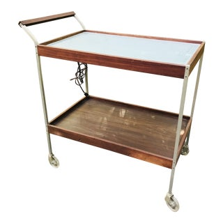 Mid Century Teak Bar Cart Server For Sale