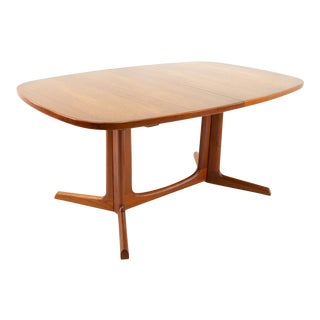 Gudme Mobelfabrik Mid Century Dining Table With 2 Leaves For Sale