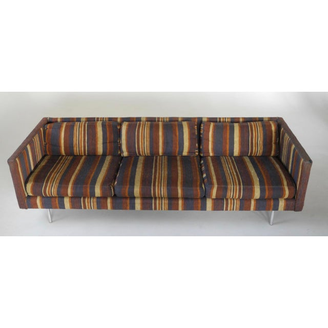 Milo Baughman for Directional Tuxedo Sofa For Sale - Image 9 of 9