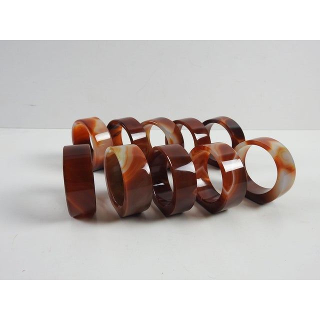 Boho Chic Agate Napkin Rings- Set of 10 For Sale - Image 3 of 5