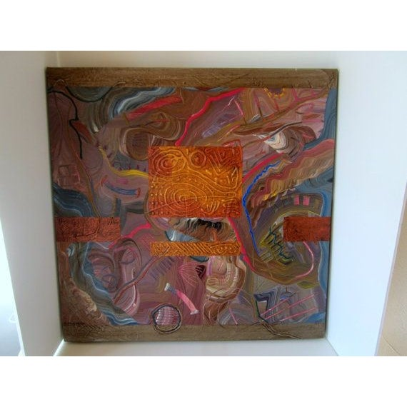 Charles Huckeba Signed Modernist Oil Painting - Image 3 of 6