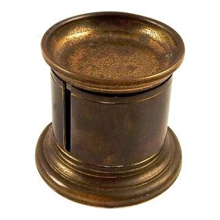 Vintage Brass Stamp Dispenser For Sale