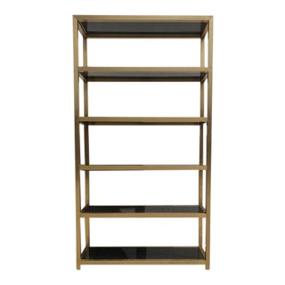 1970's Mid-Century Modern Brass Etagere For Sale
