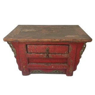 Antique Mongolian Alter Table Low Alter Chest Yurt Furniture For Sale