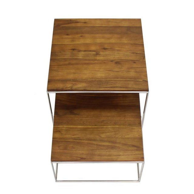 Chrome Cube Nesting End Side Table For Sale In New York - Image 6 of 9