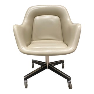 Mid-Century Modern Leather Executive Chair by Max Pearson for Knoll International (Signed) For Sale